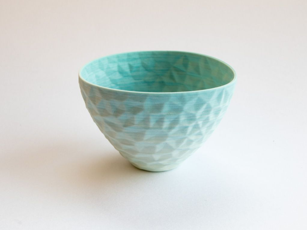gem bowl, blue/white porcelain