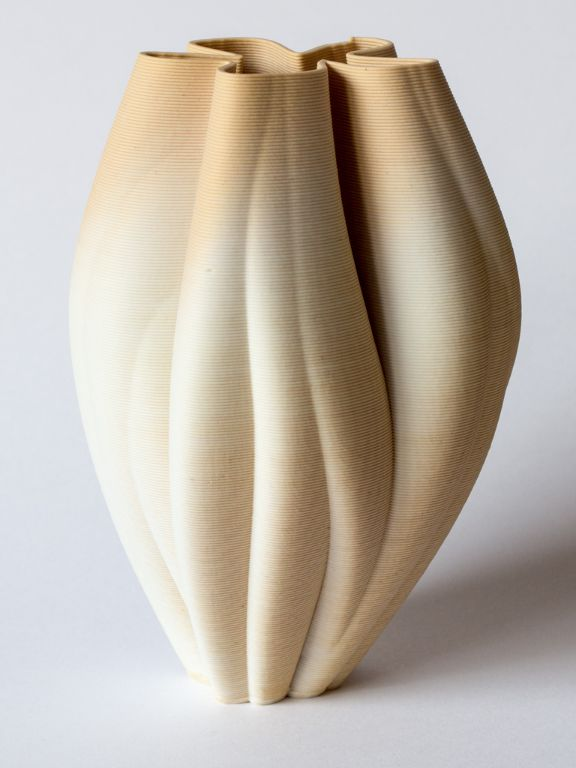 Yellow porcelain tulip